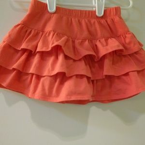 Coral Tiered Skirt